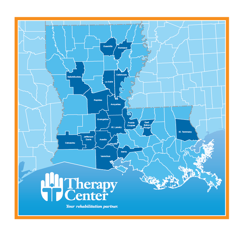 Therapy Center Service Area Map Coverage